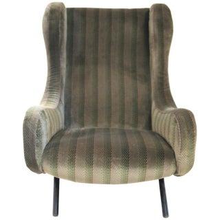 "1970 Italian Marco Zanuso ""Senior"" Armchair Original Textile"