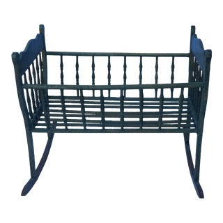 Antique Wooden Baby Cradle For Sale