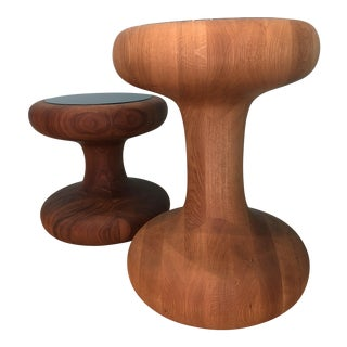 Autoban Mushroom Side Tables - A Pair For Sale