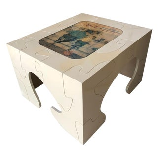 Retro Puzzle Side Table For Sale