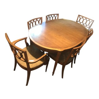 Mid-Century Modern Drexel Expandable Table & Chairs For Sale