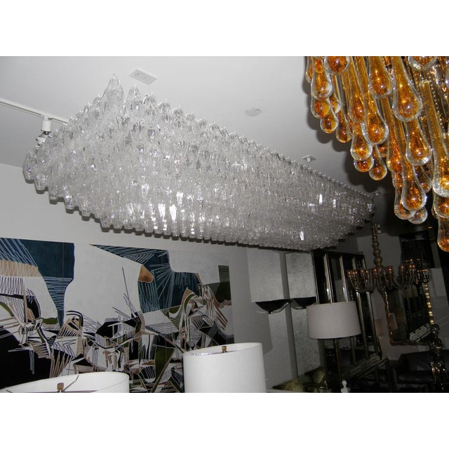 1970s Venini Clear Glass Polyhedral Chandelier For Sale - Image 5 of 5