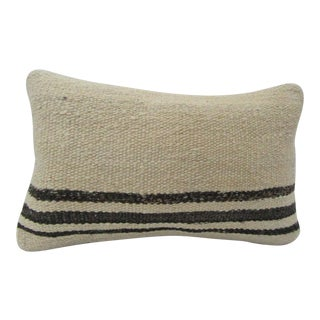 Vintage Handmade Natural Turkish Kilim Pillow Cover For Sale