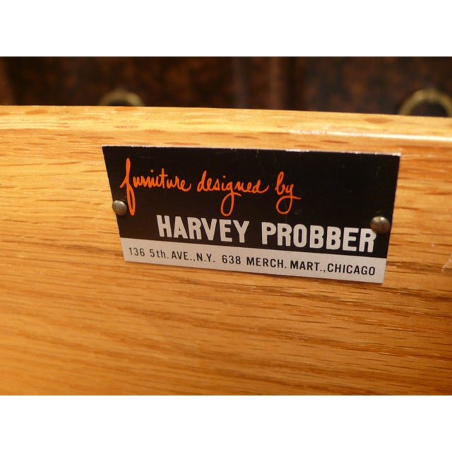 Leather Faced Probber Cabinet For Sale - Image 9 of 9