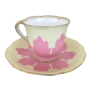 Vintage Footed Noritake Espresso Demitasse Cup and Saucer For Sale