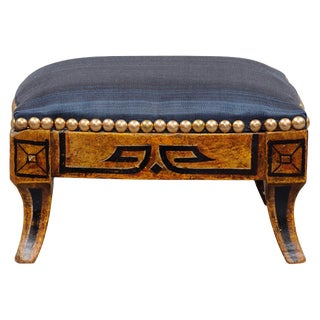 Regency English Antique Gilded Footstool For Sale