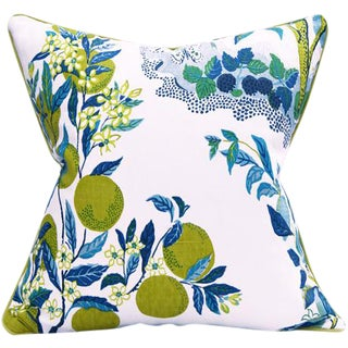 """Citrus Garden"" Schumacher Josef Frank Blue & White Pillow Cover"