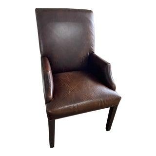 Restoration Hardware Hudson Parsons Leather Armchair For Sale