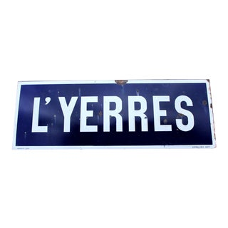 1930s Antique French Porcelain Sign For Sale