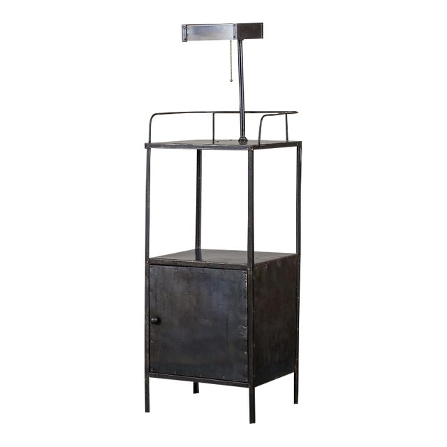 Vintage Industrial French Metal Cabinet with Light circa 1940 - Image 1 of 11