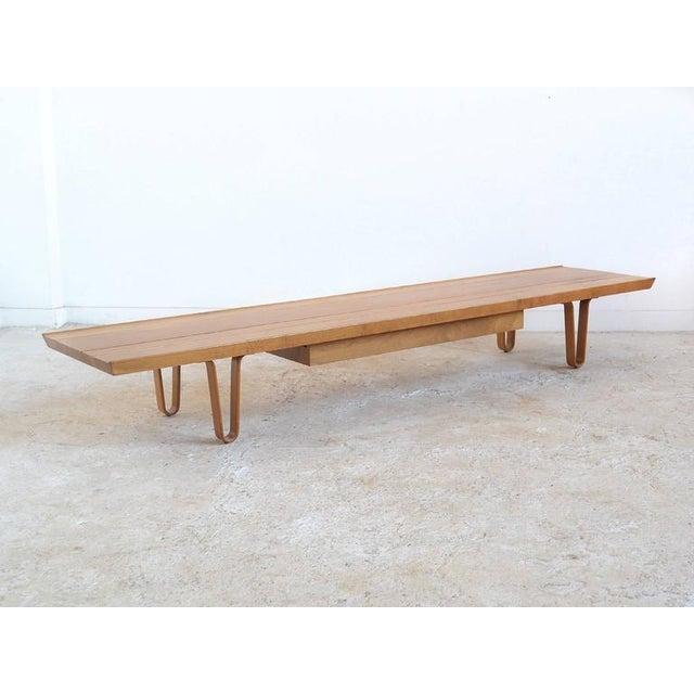 Edward Wormley Long John Bench/ Table by Dunbar - Image 7 of 9
