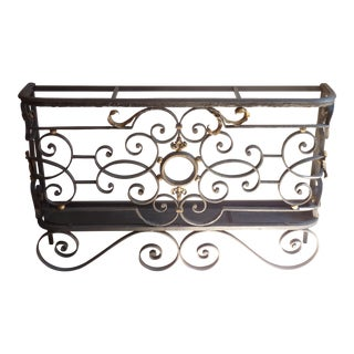 French Iron Umbrella Stand For Sale