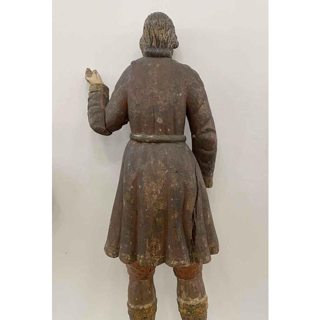 Antique San Isidro 32 In. Wood Statue For Sale - Image 11 of 13