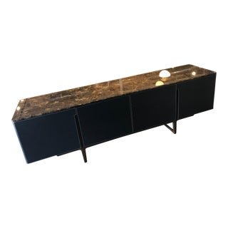 Poltrona Frau Fidelio Collection Sideboard With Leather Clad For Sale