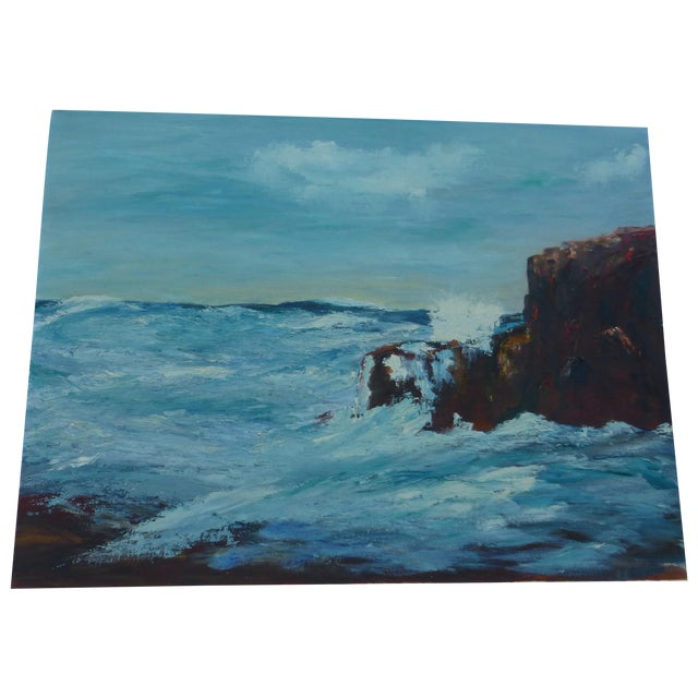 MCM Painting of Turbulent Waves h.l. Musgrave - Image 1 of 6