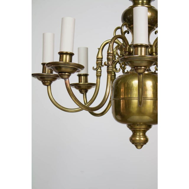Early 20th Century Dutch Style Eight Arm Chandelier For Sale - Image 4 of 10
