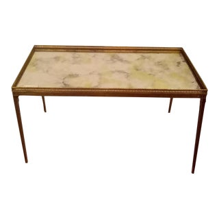 Maison Bagues Style Gilt Glass Top Coffee Table