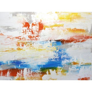 """""""Perfect Day at the Water"""" Abstract Original Artwork by Amber Goldhammer For Sale"""