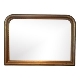 Louis Philippe Style Gold Wood Frame Vanity Mirror For Sale