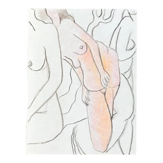 1990s Figurative Drawing, Group of Female Nudes by James Frederic Bone For Sale