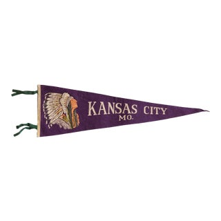Vintage Kansas City Missouri Felt Flag For Sale