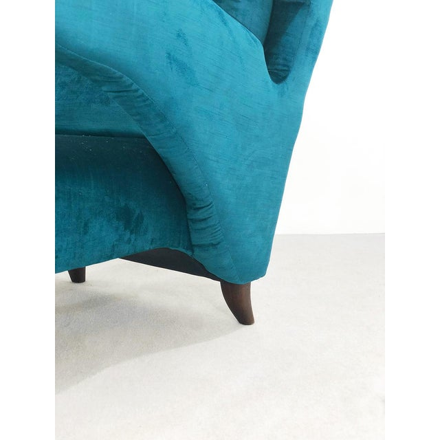 Mid-Century Modern Pair of 50s Armchairs Attributed to Melchiorre Bega For Sale - Image 3 of 9