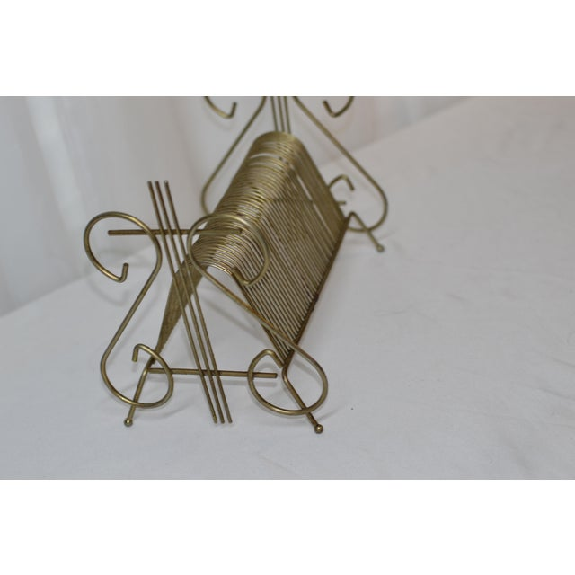Art Deco 1960's Vintage Art Deco Brass Organizational Divider For Sale - Image 3 of 5