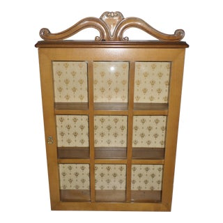 1950s French Provincial Hanging Wall Cupboard For Sale