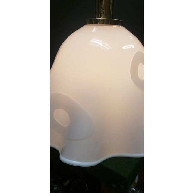 1960s White Groovy Handkerchief Murano Pendant Light For Sale - Image 5 of 11