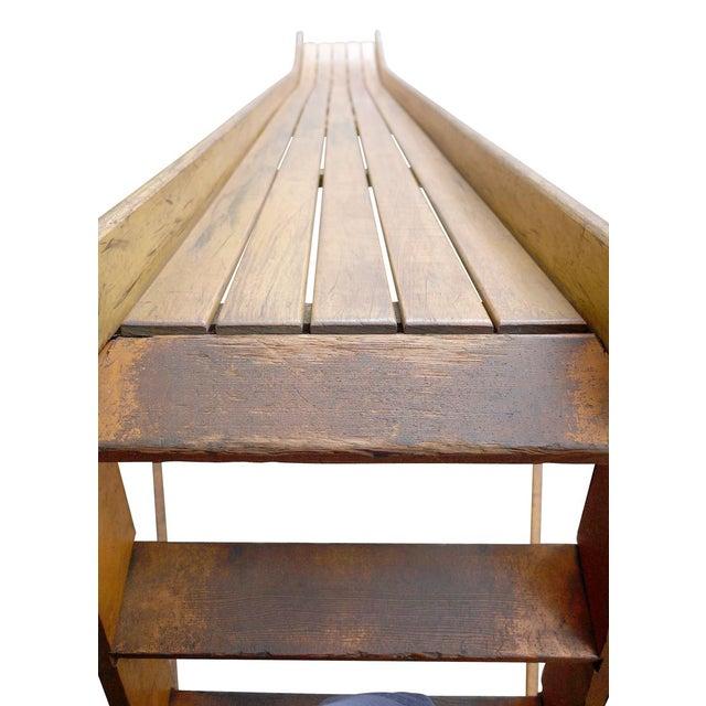 Brown Vintage 1940s Bent Wood Playground Slide For Sale - Image 8 of 11