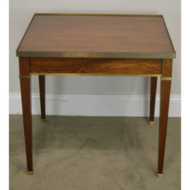 Baker Vintage Regency Directoire Style Rosewood One Drawer Side Table For Sale In Philadelphia - Image 6 of 13