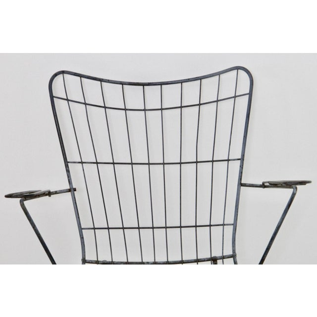 Mid-Century Modern Wire Patio Chair Frame - A Pair - Image 3 of 5