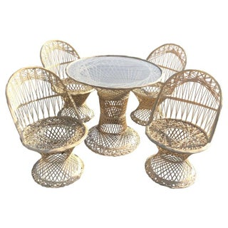 1970s Woodard Spun Fiberglass Patio Furniture-Set of 5 For Sale