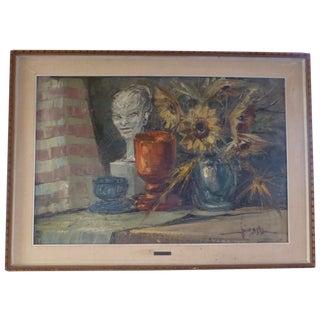 Italian Still Life Painting by V. Majorana For Sale