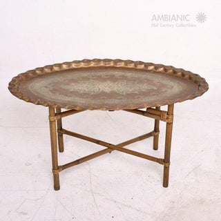 Anglo Indian Coffee Table Brass & Bamboo Preview