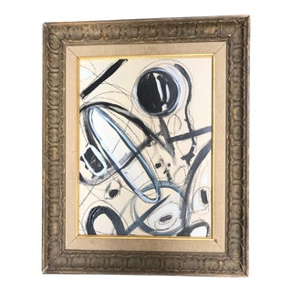 2010s Abstract Black and White Painting by Tony Marine