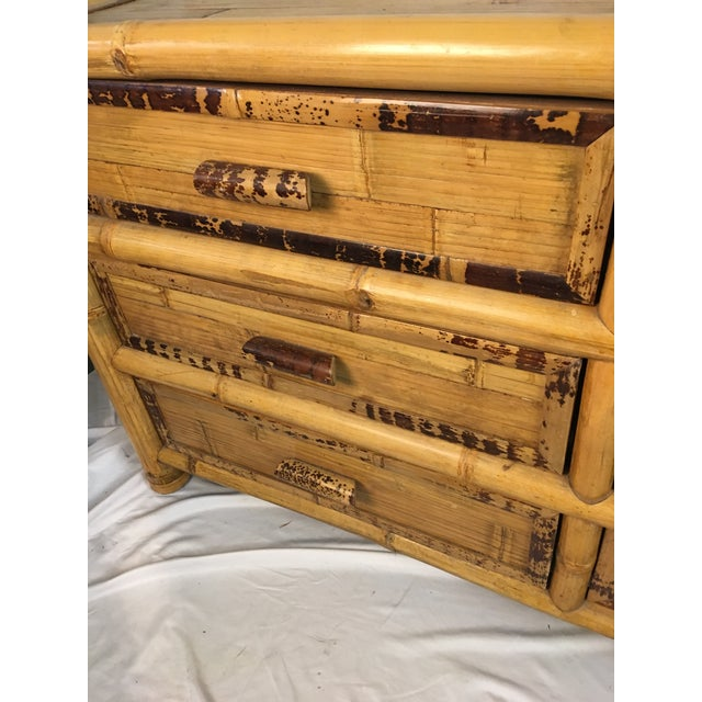 1960s Chinoiserie Bamboo Dresser For Sale - Image 4 of 10