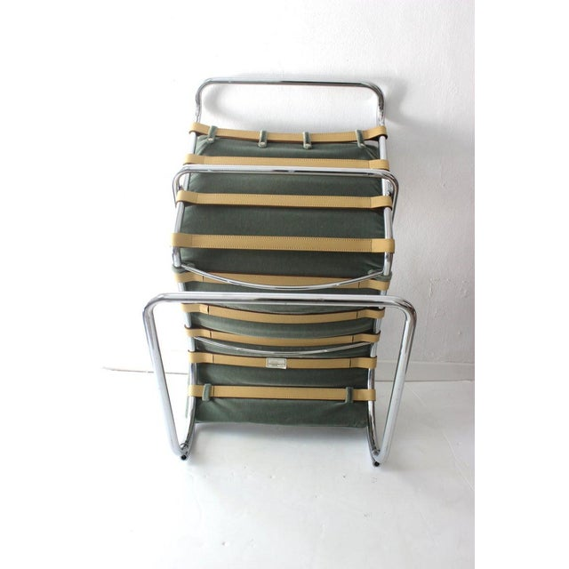 Metal Vintage Mies Van Der Rohe Style Lounge Chair by Gordon International For Sale - Image 7 of 13