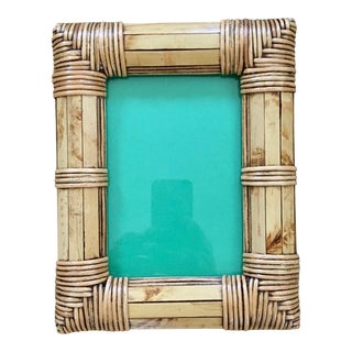 Late 20th Century Vintage Bamboo Picture Frame For Sale