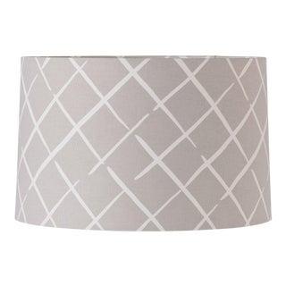 Medium Madcap Cottage Trellis Print Fabric Lamp Shade For Sale