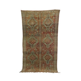 1970s Vintage Boujad Moroccan Rug - 6′6″ × 11′5″ For Sale