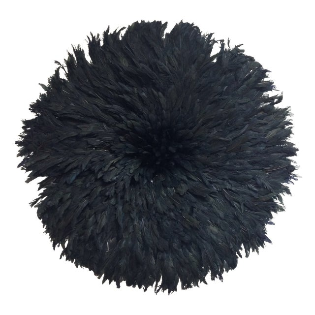 Modern Authentic Cameroon Black Juju Hat For Sale - Image 4 of 4