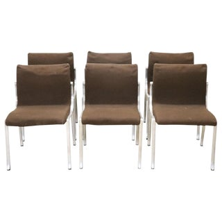 20th Century Italian Design in the Style of Osvaldo Borsani Chairs, Set of 6 For Sale