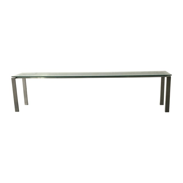 Modern Custom Steel & Glass Console Table - Image 1 of 9