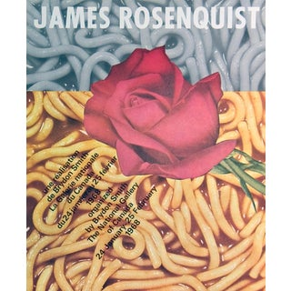 """James Rosenquist the National Gallery of Canada 23"""" X 18.5"""" Poster 1968 Pop Art Brown For Sale"""
