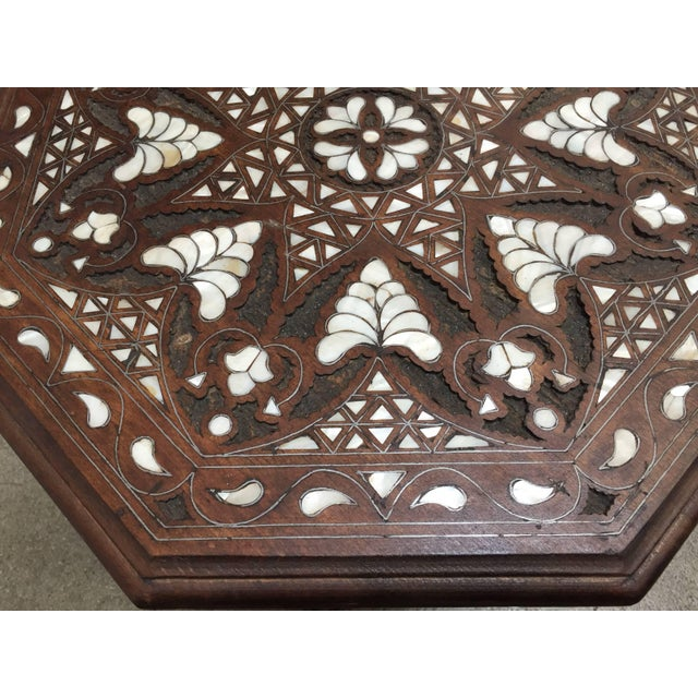 Syrian Mother-Of-Pearl Inlaid Side Table For Sale - Image 9 of 13