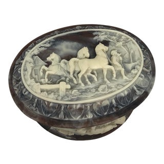 Genuine Incolay Stone Trinket Box For Sale