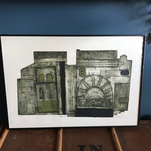 John Ross Architectural Collagraph - Image 2 of 10