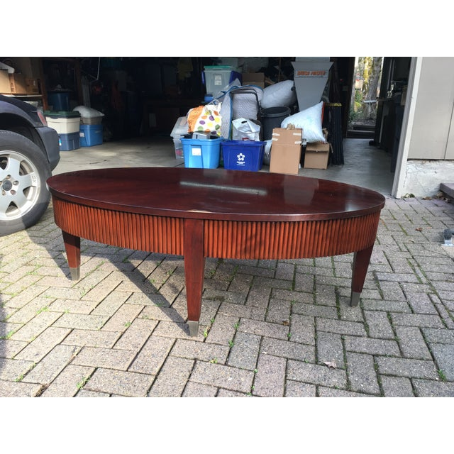All Ethan Allen Coffee Tables: Ethan Allen Oval Wooden Coffee Table