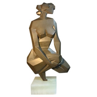 Giovanni Schoeman Nude Cubist Sculpture For Sale